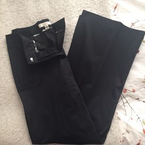Burberry Pants - Burberry Black Wide Leg Trouser 8